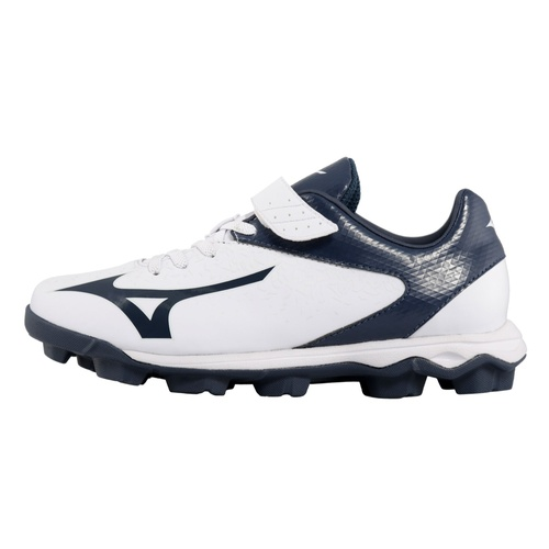 Mizuno Wave Select Nine YOUTH Moulded Cleats White/Navy