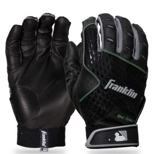Franklin 2nd-Skinz Batting Gloves - Black