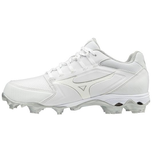Mizuno LADIES 9-Spike Finch Elite 4 Moulded Cleats - White
