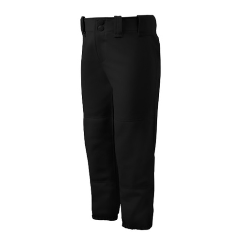 Mizuno Ladies Low Rise Belted Pants - Black