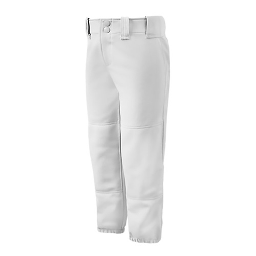 Mizuno Ladies Low Rise Belted Pants - White