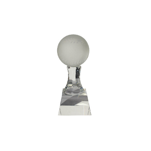 Crystal Trophy - Ball on Curved Pedestal #153