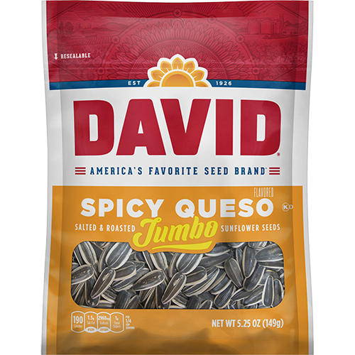 David Sunflower Seeds 5.25 oz - Spicy Queso