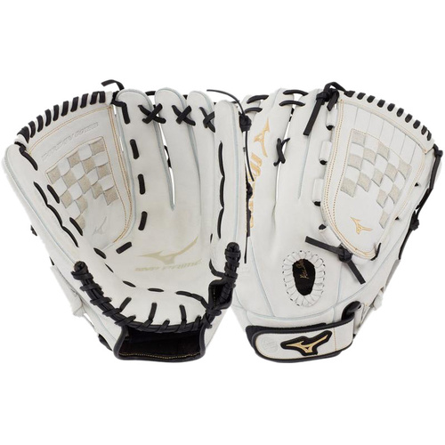 Mizuno MVP PRIME Softball Glove 13 inch White/Black