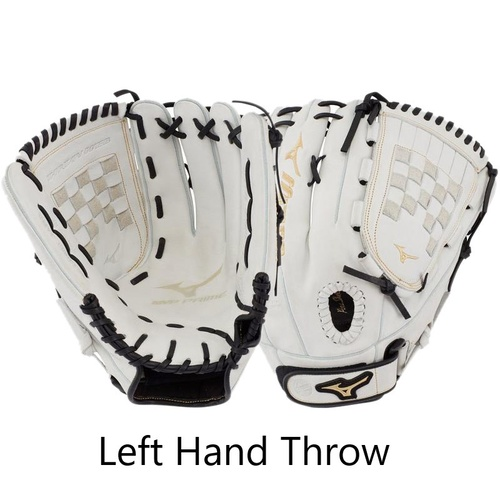 Mizuno MVP PRIME Softball Glove 13 inch White/Black LHT