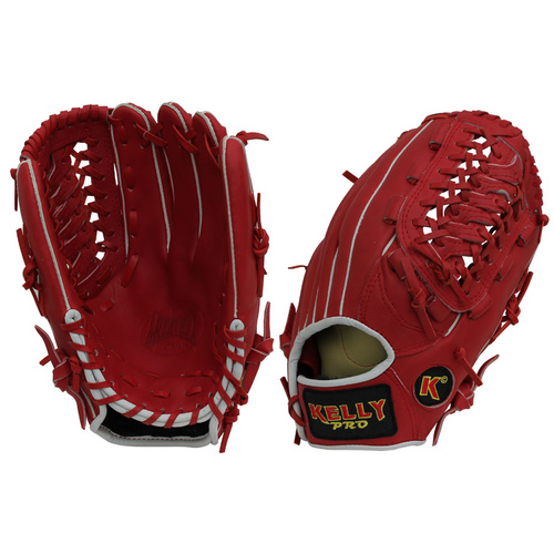 Kelly Pro KP5 KIP Leather Glove Red/Red 12.5 inch