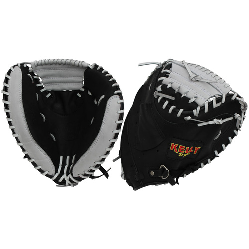 Kelly KPC-L Baseball Catcher's Glove Black/White 34 inch