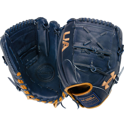 Under Armour Genuine Pro 2.0 Baseball Glove 12 inch Navy/Caramel UAFGGP2-12002P