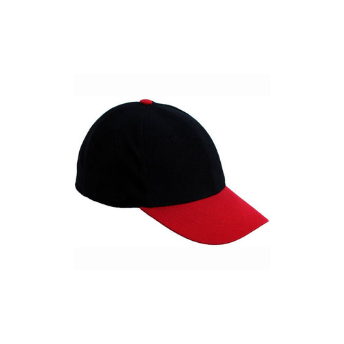 Unifit Stretch Fit Flex Back Cap - Adult - Black/Red